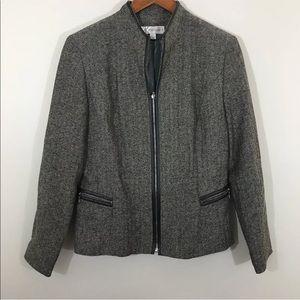 Larry Levine Woman Blazer  4 Gray Black Small coat